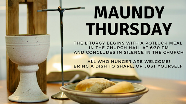 Maundy Thursday 2018